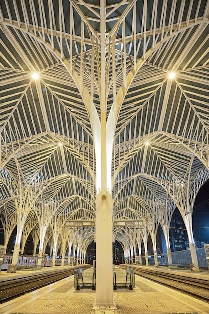 Gare do oriente in lisbon portugal Premium Photo