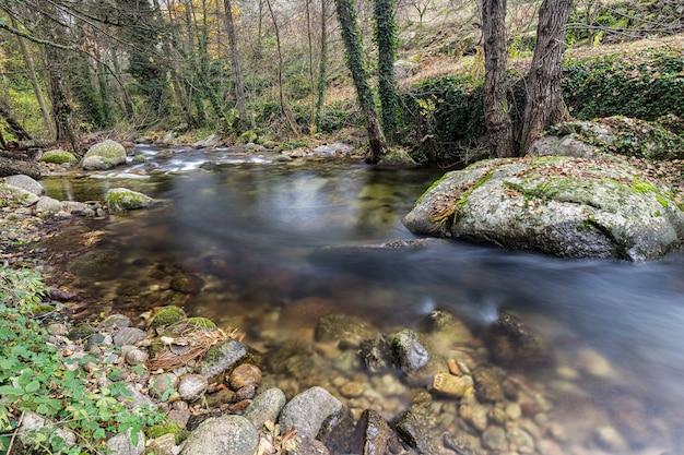 Garganta san gregorio. landscape near aldeanueva de la vera, caceres. Premium Photo