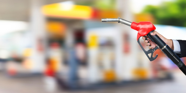 Gasoline fuel nozzle Premium Photo
