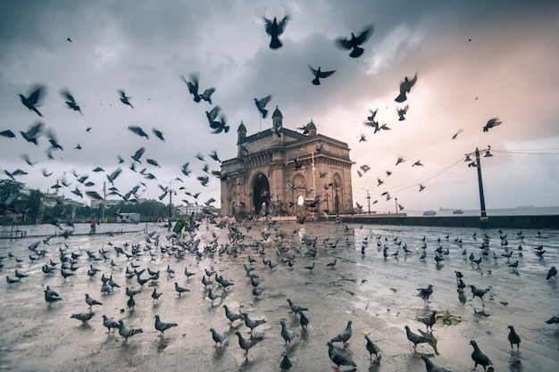 Gateway of india mumbai Premium Photo