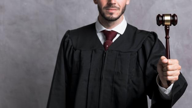 小gaveを持ってローブのクローズアップ裁判官 無料写真