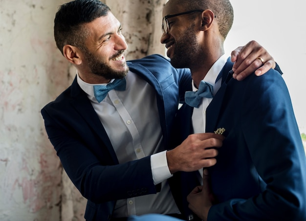 Gay couple together love Premium Photo