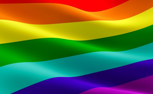 Gay pride flag (lgbt movement). rainbow flag. Photo