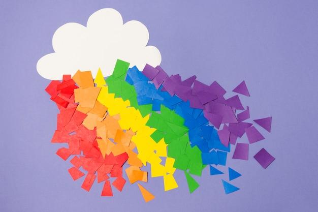 Gay pride rainbow concept Free Photo