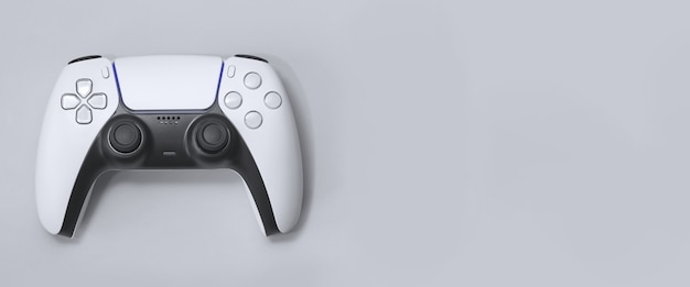 Next gen game controller on white/gray background Premium Photo