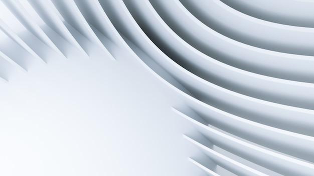 幾何学的抽象ホワイトアーキテクチャ Premium写真