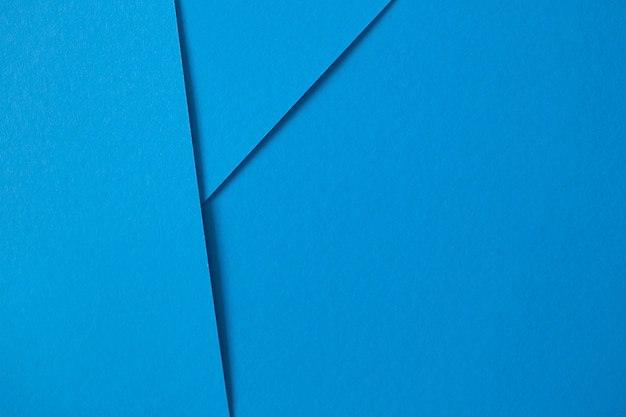 Geometric composition with blue paperboard with copyspace Free Photo