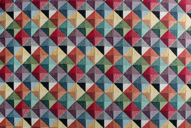 Geometric multicolored textile background pattern Premium Photo