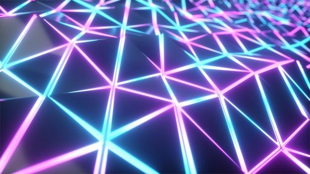 기하학적 인 폴리 빛 삼각형 모션 배경 프리미엄 사진