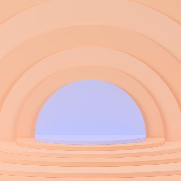 Геометрическая форма фиолетовый подиум для продукта. Premium Фотографии