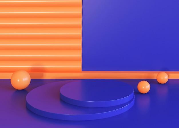 Geometric shapes background blue and orange tones Free Photo