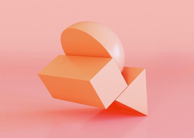Geometric shapes background in orange tones Free Photo
