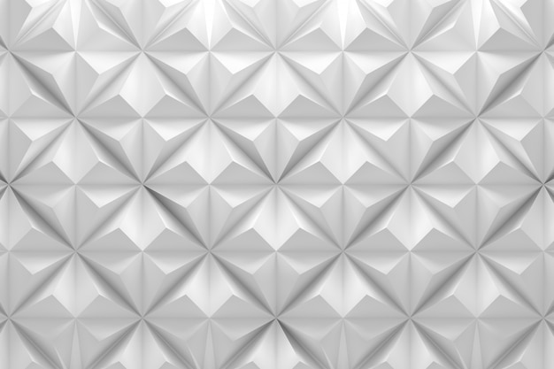 Geometric white pattern with rhombus pyramid triangle shapes Premium Photo
