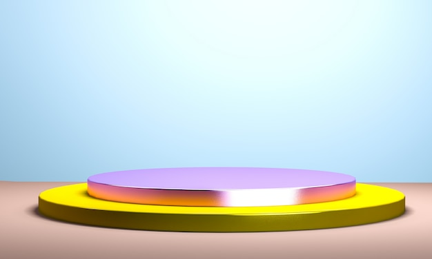 Geometrical abstract disign for background, 3d render, trend poster. Premium Photo