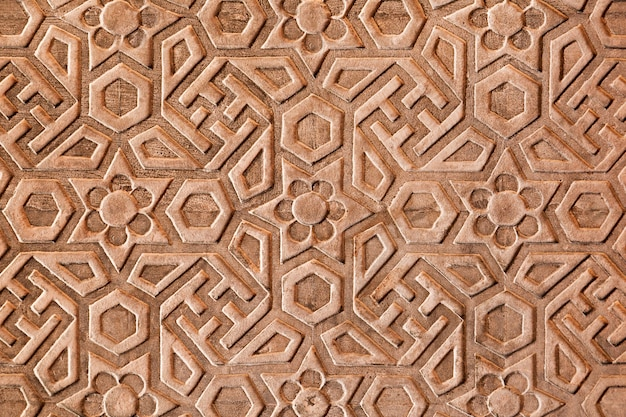 Geometrical pattern on red fort Premium Photo
