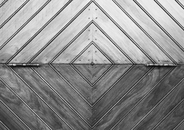 Geometrical wooden composition Free Photo