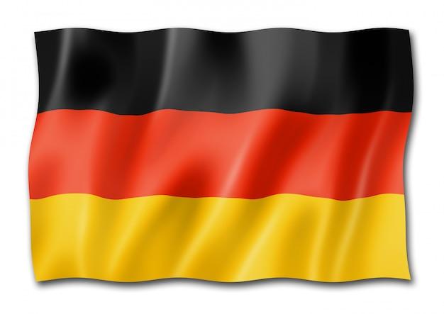 German flag isolated Premium Photo