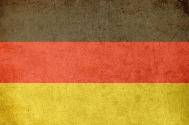 German flag, old postcard textured style Premium Photo