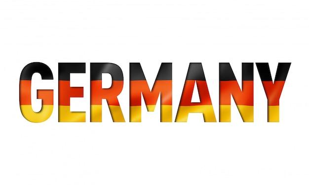German flag text font Premium Photo