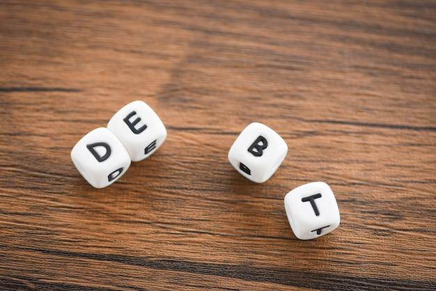 Get out of debt concept Premium Photo