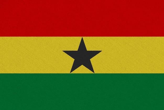 Ghana fabric flag Premium Photo