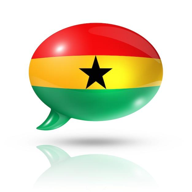 Ghanaian flag speech bubble Premium Photo