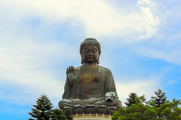 Giant buddha hong kong Premium Photo