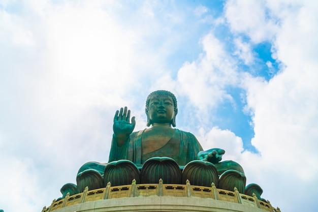 Гигантская статуя будды в нгонг пинг, гонконг Premium Фотографии