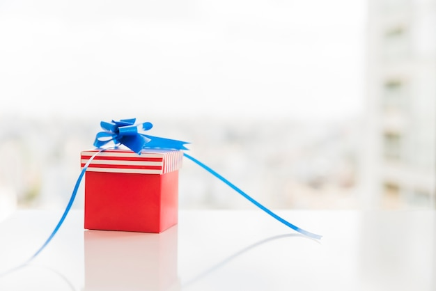 Gift box in colors of american flag Free Photo
