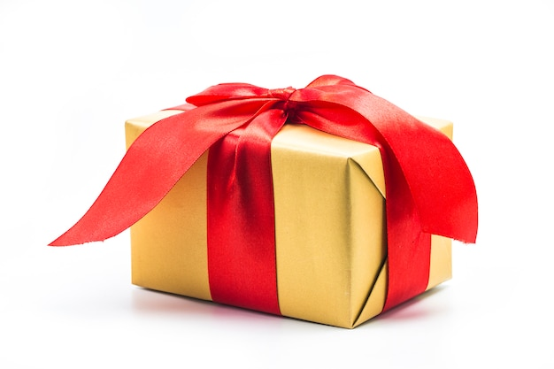 Gift box on white background Free Photo