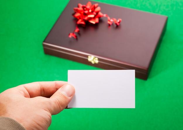 ブランクカード付きギフトボックス Premium写真