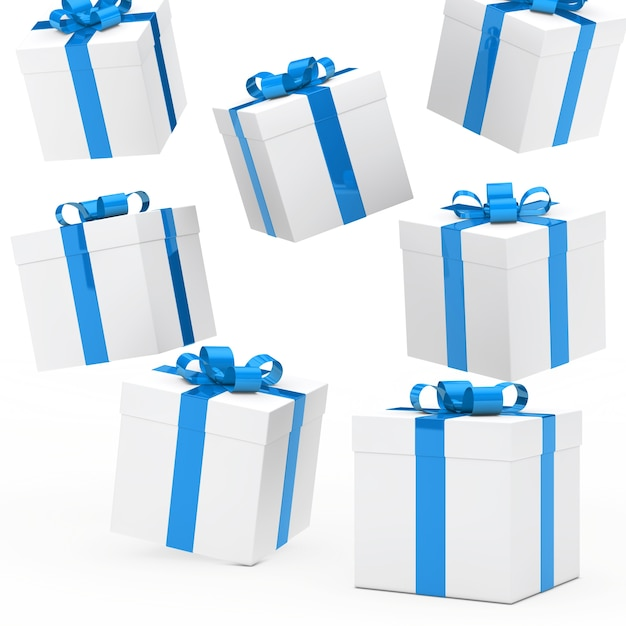 Gift boxes collection Free Photo