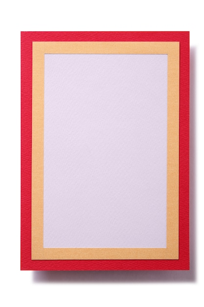 Gift card red gold border template vertical Free Photo