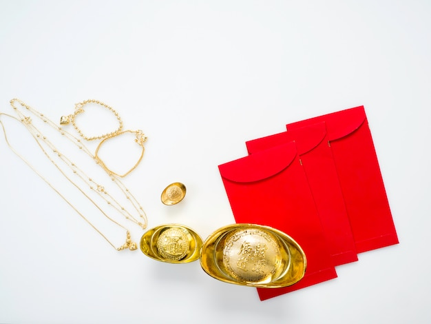 Gifts in chinese new year, gold Photo | Premium Download