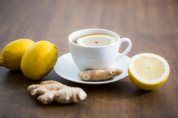 Ginger and lemon tea Free Photo
