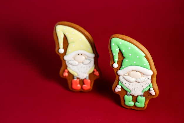Gingerbread cookie of fairytale gnome Premium Photo