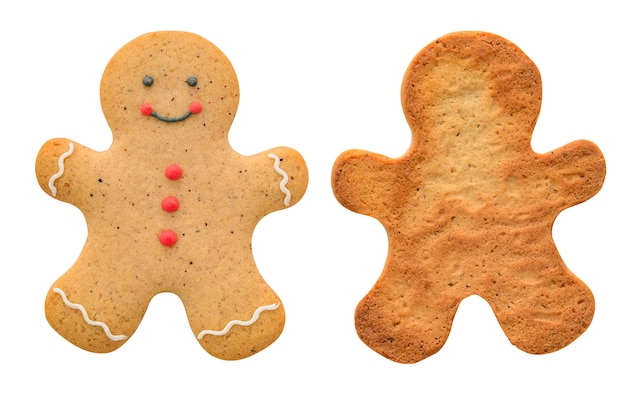 Gingerbread man isolated on white Premium Photo