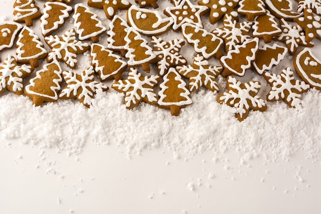 Gingerbread on the white background Premium Photo
