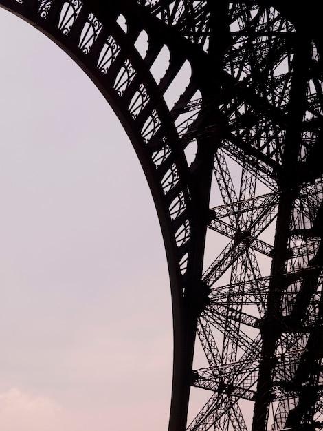 Girders of the eiffel tower in paris france Premium Photo