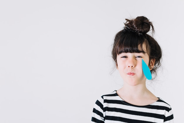 Girl Crying With Paper Tears Photo Free Download Enchanting Crying Images Download