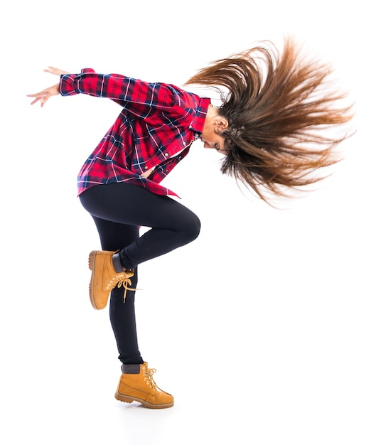 Girl Dancing Hip Hop Premium Photo