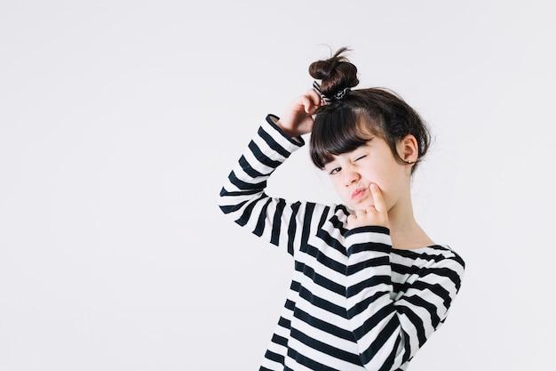 Girl having question Free Photo