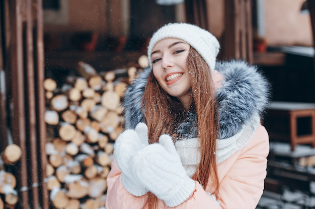 girl in winter Free Photo