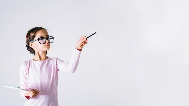Girl playing teacher Free Photo