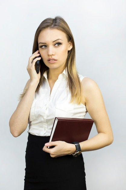 Girl in the style of business Premium Photo