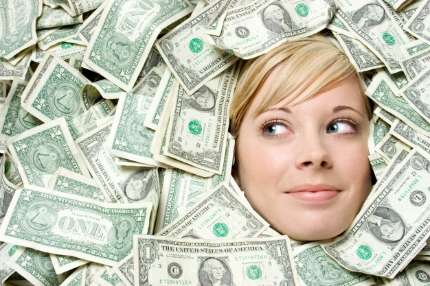 girl success business dollar wealth Free Photo