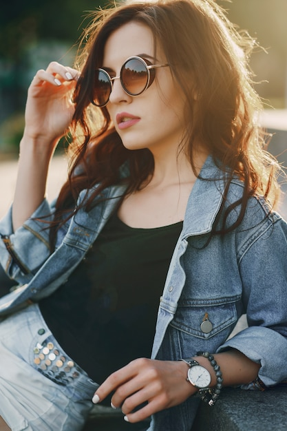 Girl in sunglasses Free Photo