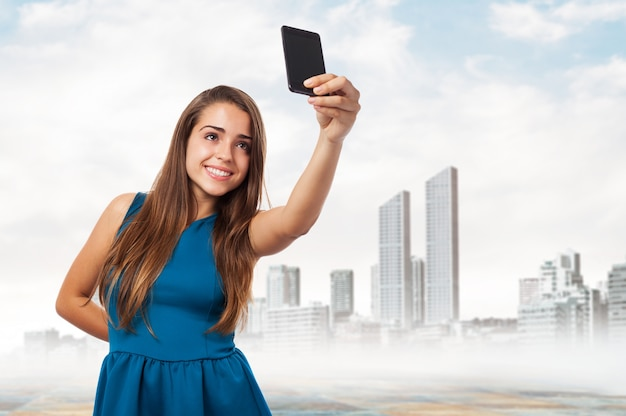 girl taking a selfie photo free download