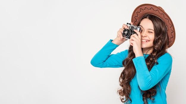 Girl taking photos Free Photo