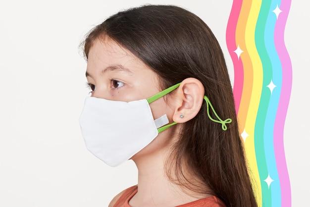 Девушка в белой маске для лица Бесплатные Фотографии